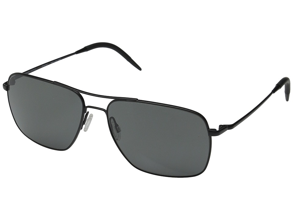 Oliver Peoples Clifton Matte Black/Graphite PLR VFX Fashion Sunglasses