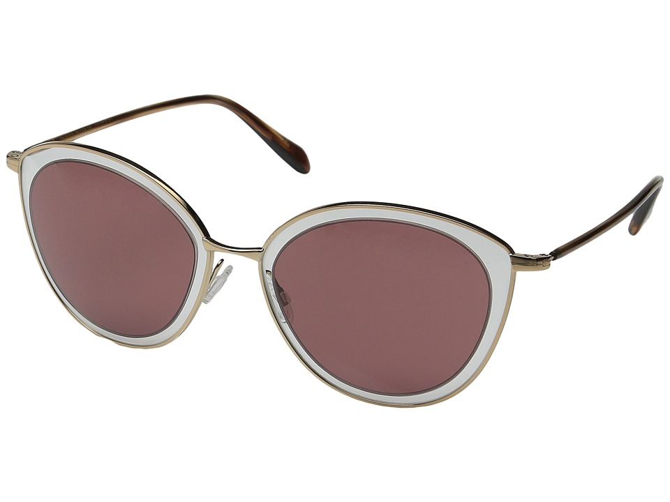 Oliver Peoples Gwynne Rose Gold/Clear/Damson Fashion Sunglasses