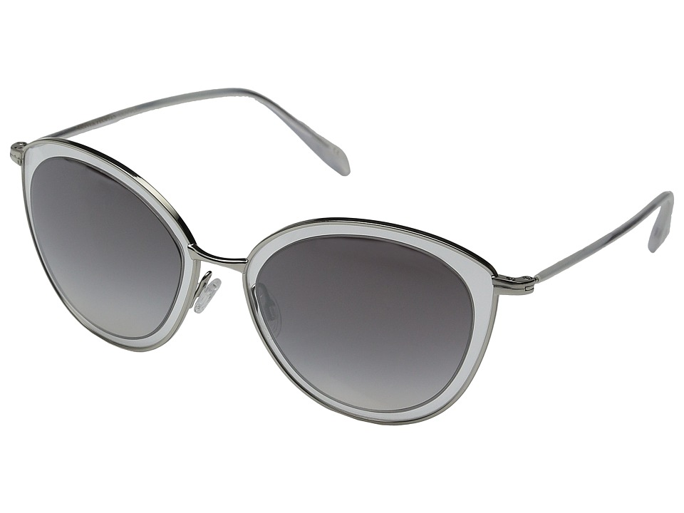 Oliver Peoples Gwynne Silver/Clear/Silver Flash Gradient Mirror Fashion Sunglasses