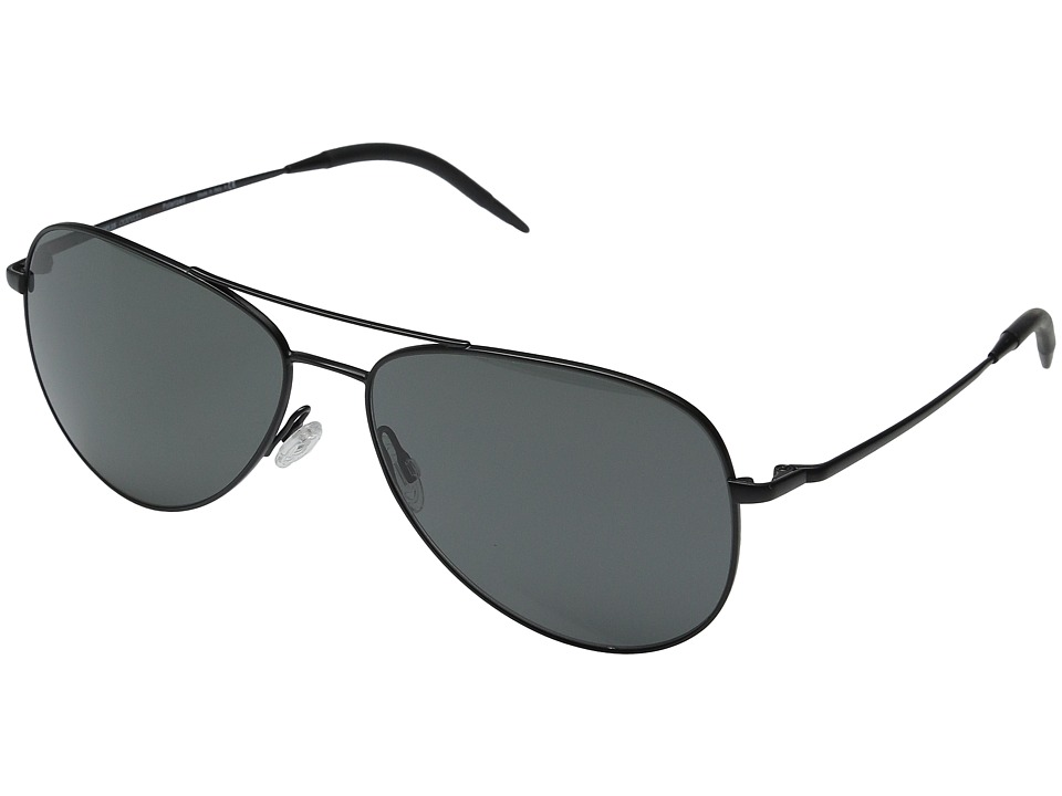 Oliver Peoples Kannon 59 Matte Black/Graphite Polarized VFX Fashion Sunglasses