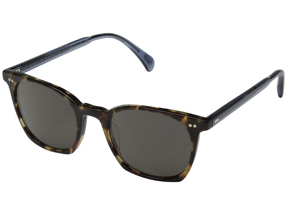 Oliver Peoples L.A. Coen Sun Hickory Tortoise/Denim/Carbon Grey Fashion Sunglasses