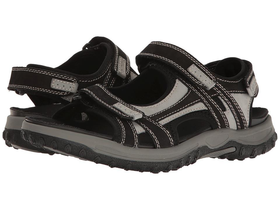 Drew - Warren (Black/Grey Nubuck) Mens Shoes
