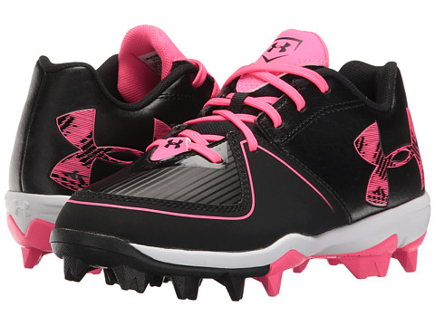 Under Armour Kids UA Glyde RM Jr. Softball (Toddler/Little Kid/Big Kid) - Black/Cerise