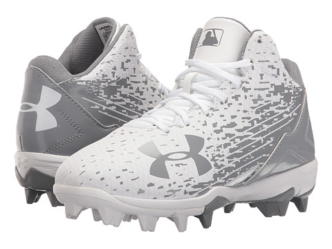 Under Armour Kids UA Leadoff Mid RM Jr. Baseball (Toddler/Little Kid/Big Kid) - White/White