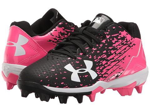 Under Armour Kids UA Leadoff Low RM Jr. Baseball (Toddler/Little Kid/Big Kid) - Black/Cerise
