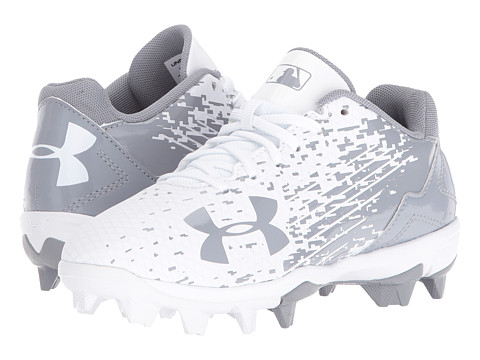 Under Armour Kids UA Leadoff Low RM Jr. Baseball (Toddler/Little Kid/Big Kid) - White/White