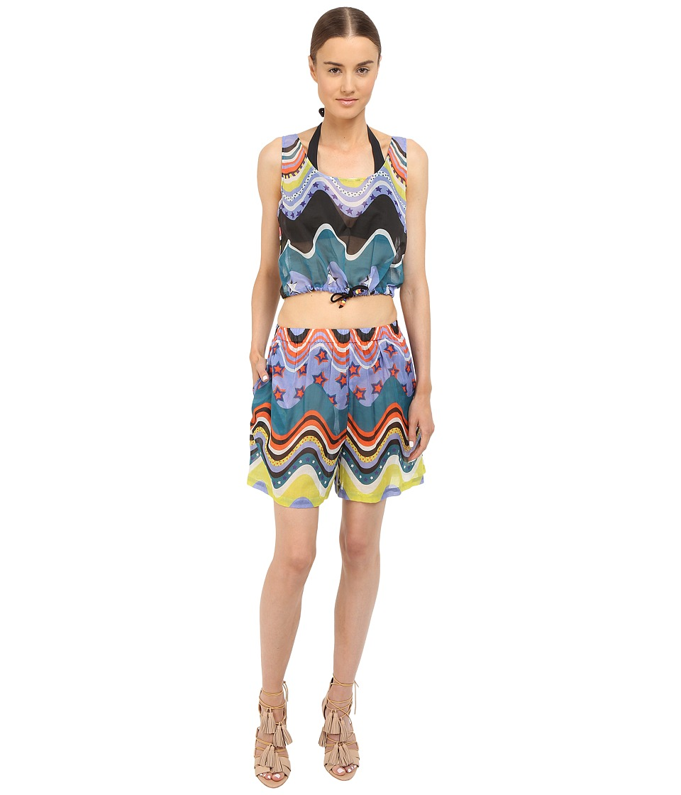 M Missoni Circus Two Piece Cover Up Black Womens Swimwear Sets