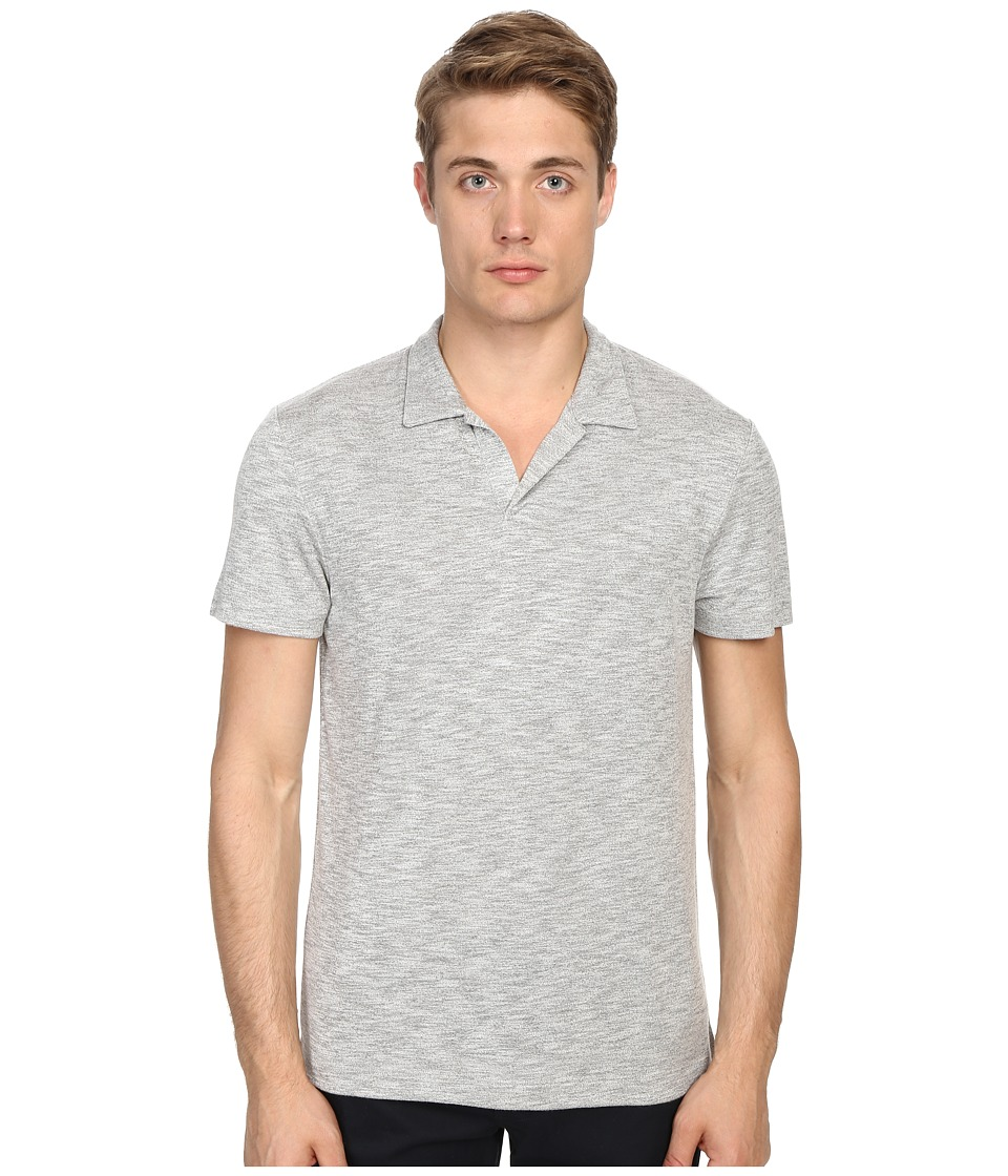 Theory Willem.Anemone Gym Grey Multi Mens Short Sleeve Pullover