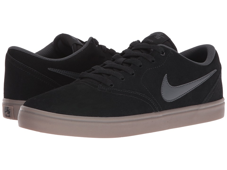 Nike SB Check Solar Suede (Black/Anthracite/Dark Brown) Men
