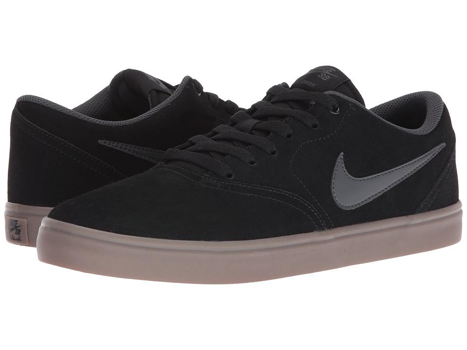 Nike SB - Check Solar Suede (Black/Anthracite/Dark Brown)...