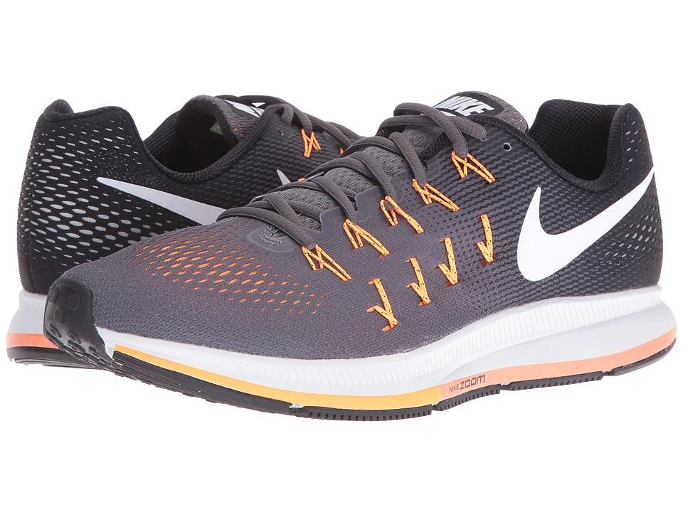 Nike Air Zoom Pegasus 33 (Dark Grey/Black/Bright Citrus/White) Men