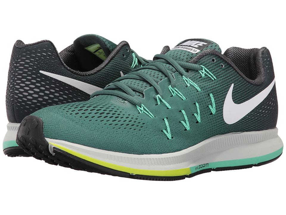 Nike - Air Zoom Pegasus 33 (Green Stone/Seaweed/Green Glow/White) Mens Running Shoes