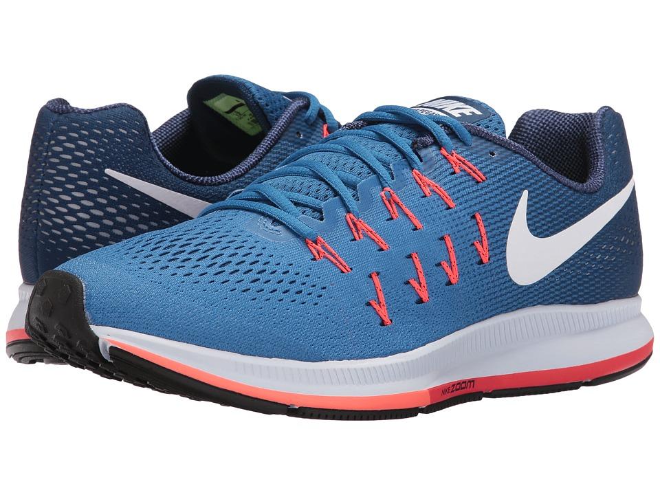 Nike Air Zoom Pegasus 33 (Star Blue/Coastal Blue/Bright Mango/White) Men