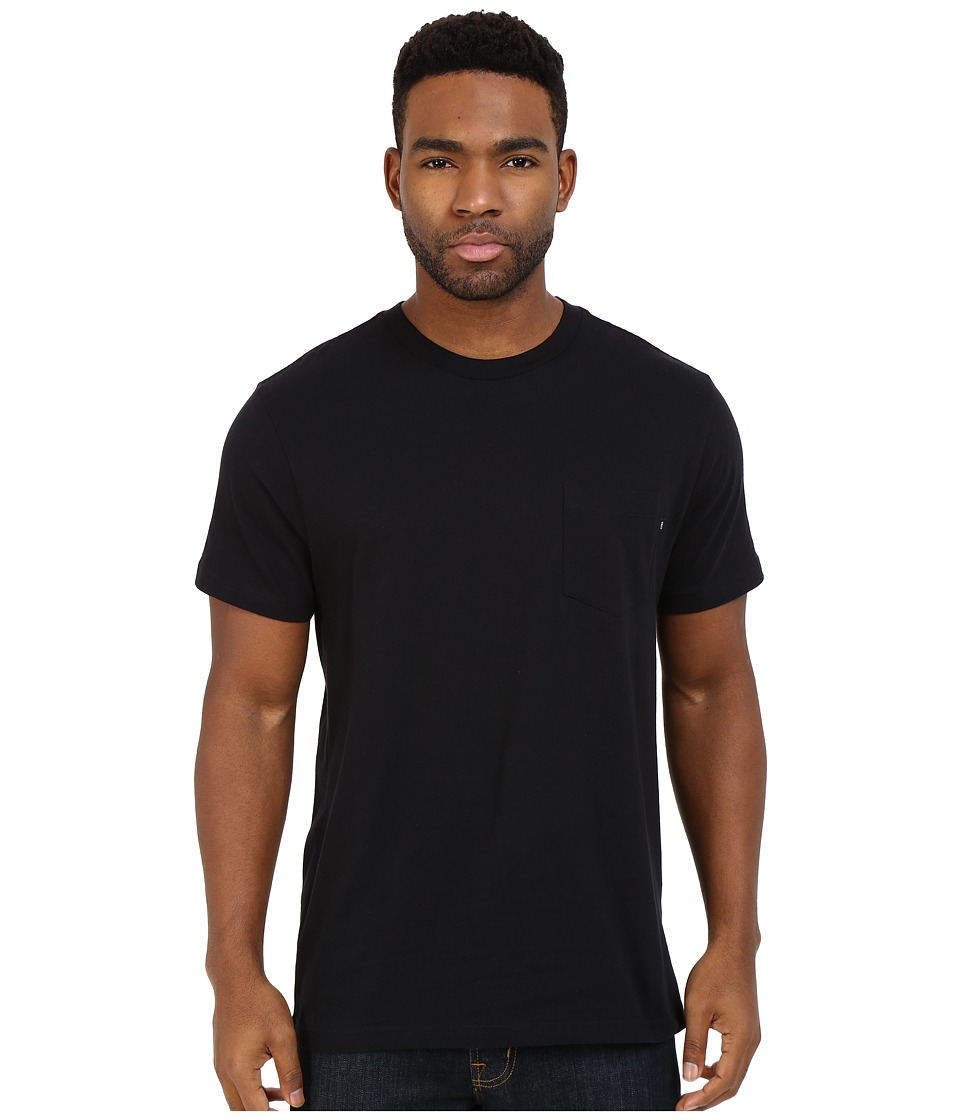 Obey Premium Basic Pocket Tee Black Mens Short Sleeve Pullover