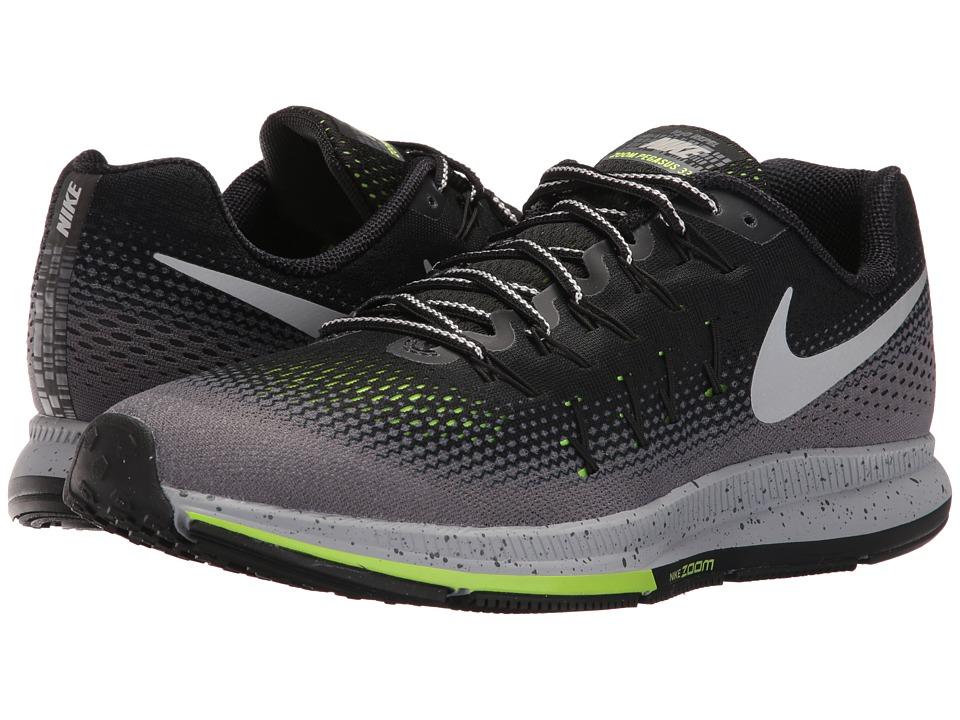 Nike Air Zoom Pegasus 33 Shield (Black/Metallic Silver/Dark Grey/Stealth) Men