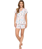 BedHead - Short Sleeve Mandarin Collar Shorty Bottom Pajama Set