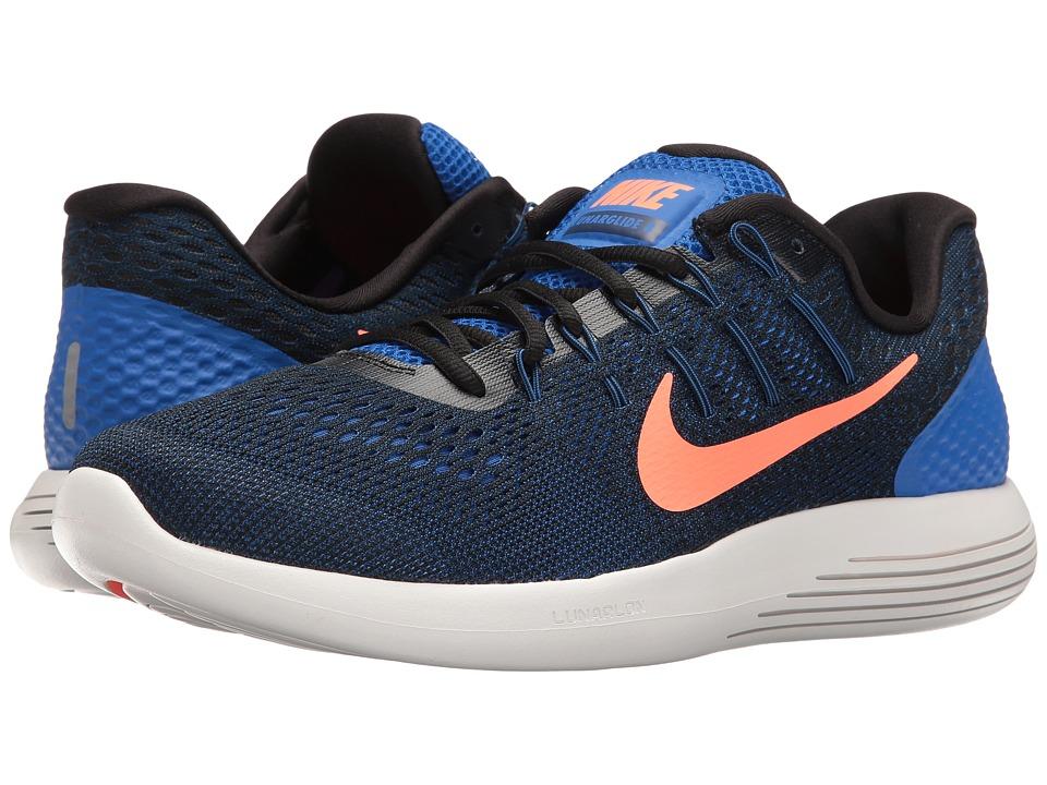 Nike Lunarglide 8 (Hyper Cobalt/Black/Loyal Blue/Bright Mango) Men