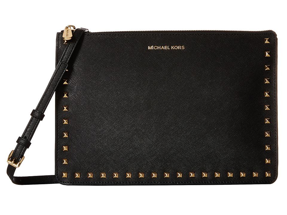 MICHAEL Michael Kors - Ava Stud Large Conv Pouch (Black) Wallet