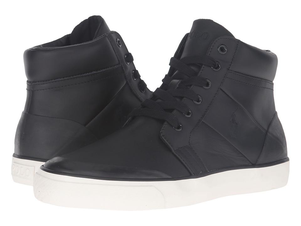 Polo Ralph Lauren Isaak (Black Smooth Sport Leather) Men
