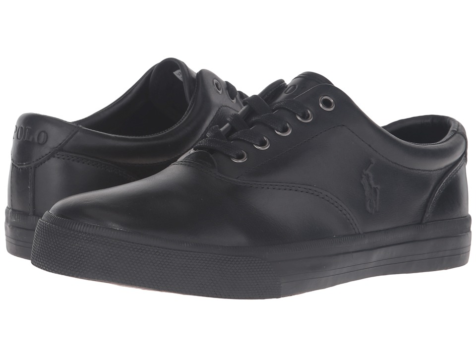 Polo Ralph Lauren Vaughn (Black/Black Smooth Oil Leather) Men