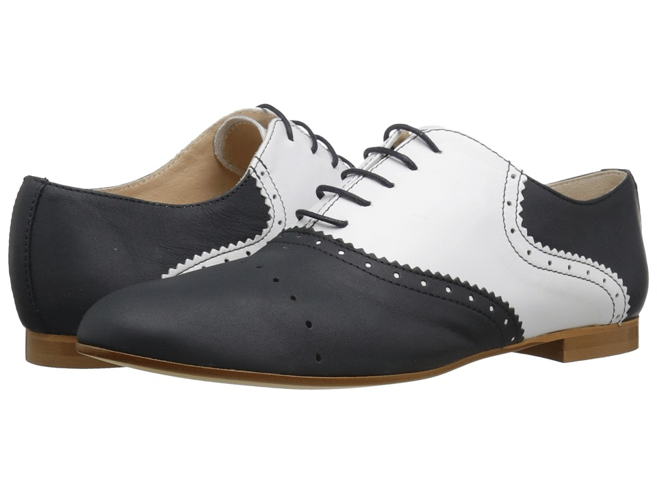 Saddle Shoes History Massimo Matteo - Two-Tone Oxford BlueBlanco Womens Lace up casual Shoes $82.99 AT vintagedancer.com