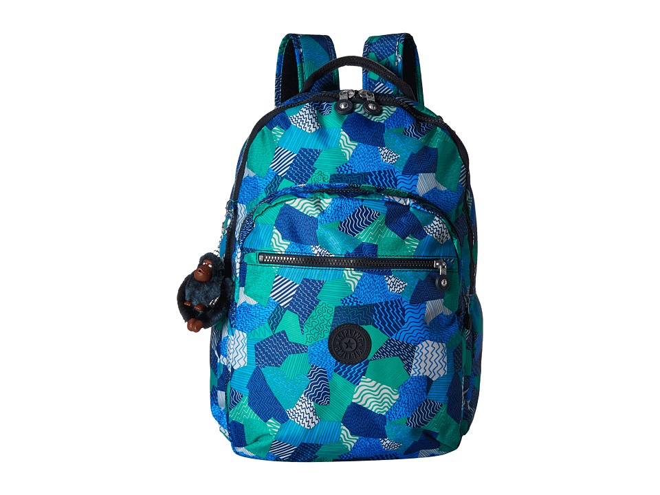 Kipling - Seoul Computer Backpack (Enjoy The Waves) Backpack Bags
