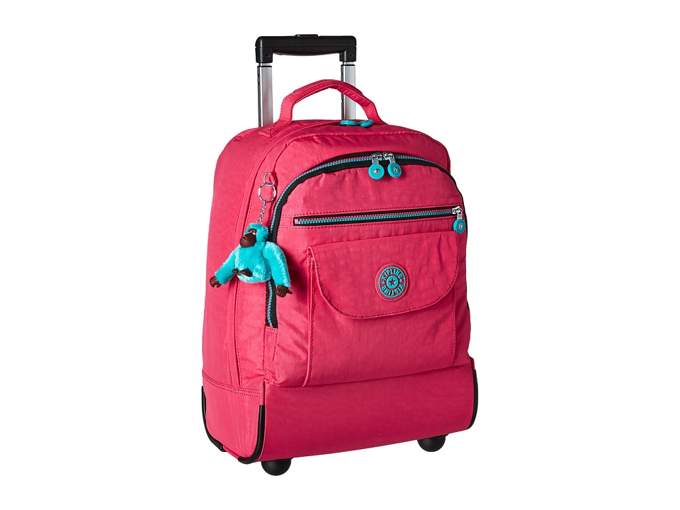 Kipling Sanaa Wheeled Backpack Vibrant Pink 1 Backpack Bags
