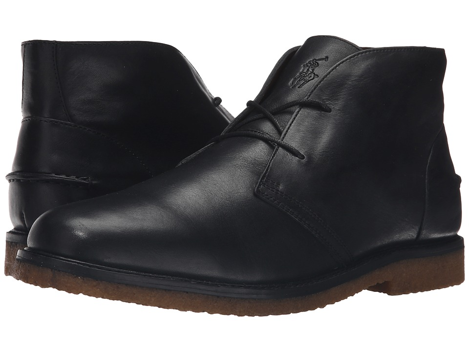 Polo Ralph Lauren Marlow (Black Oil Milled Leather) Men