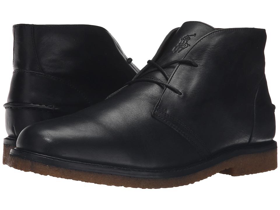 Polo Ralph Lauren Marlow (Black Oil Milled Leather) Men