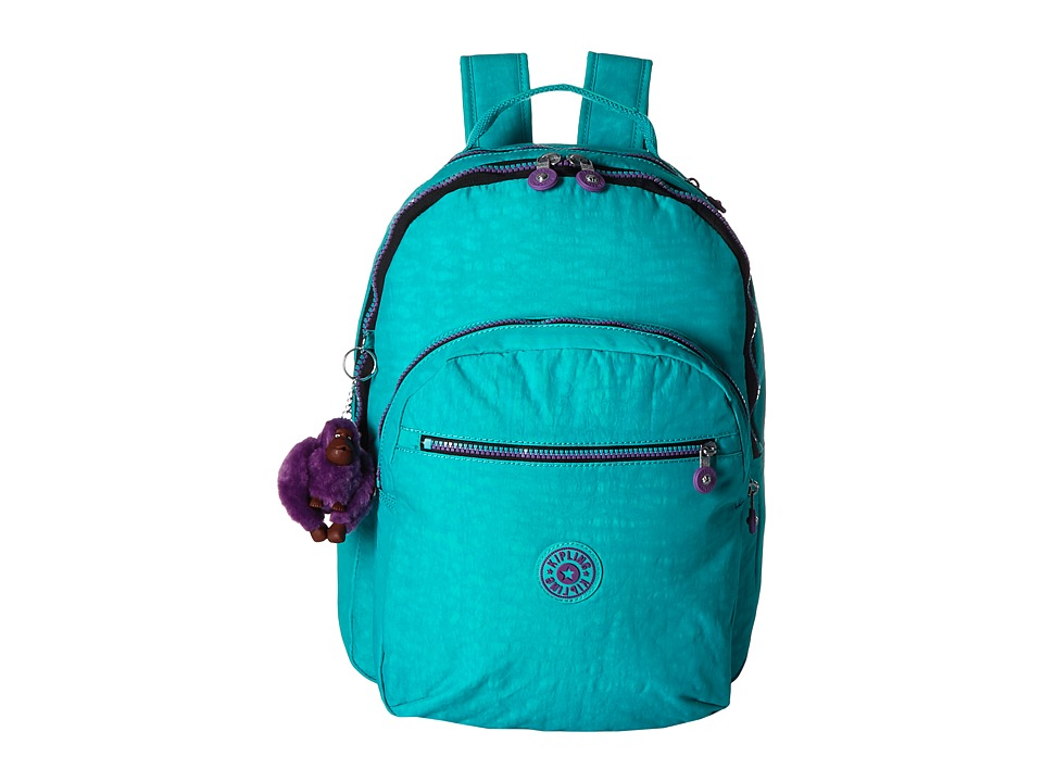 Kipling - Seoul Backpack with Laptop Protection (Cool Turquoise) Backpack Bags