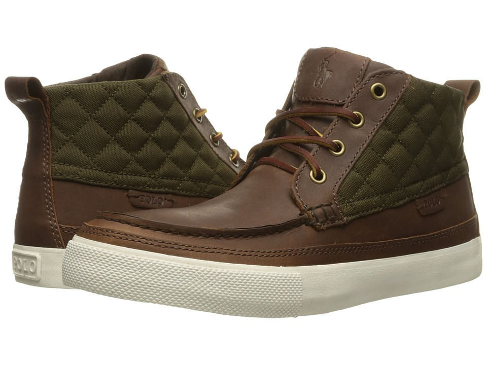 Polo Ralph Lauren - Tomas (Brown/Olive Oiled Milled Leather/Matte Cordura) Men
