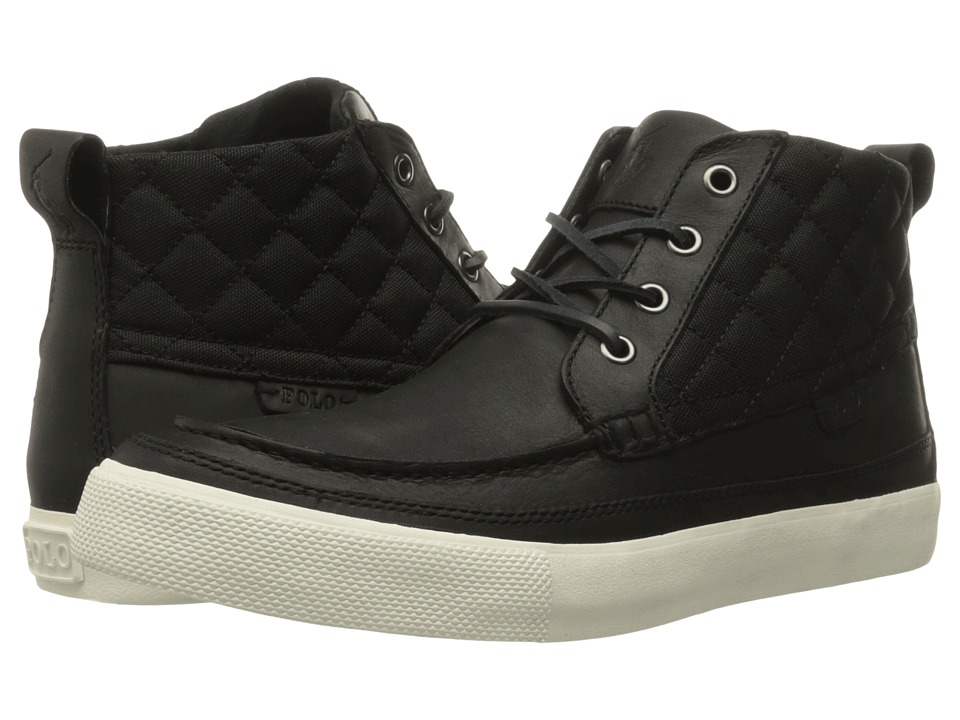 Polo Ralph Lauren - Tomas (Black/Black Oiled Milled Leather/Matte Cordura) Men