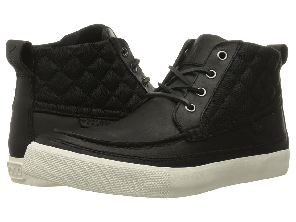 Polo Ralph Lauren Tomas (Black/Black Oiled Milled Leather/Matte Cordura) Men