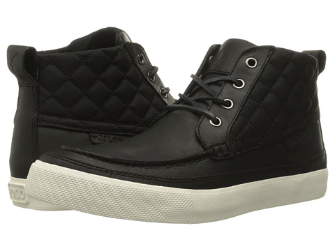 Polo Ralph Lauren Tomas - Black/Black Oiled Milled Leather/Matte Cordura