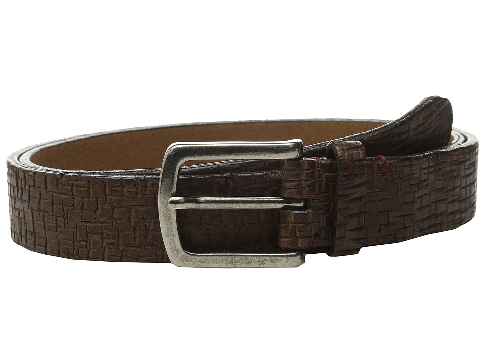 Torino Leather Co. - Italian Vintage Laser Etched Leather (Brown) Men