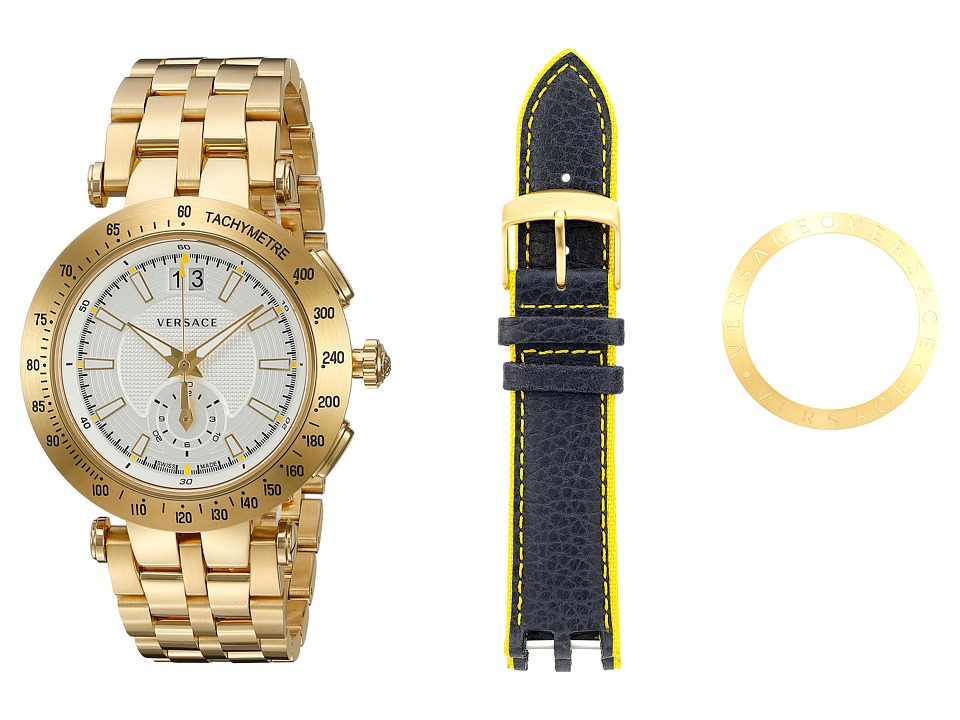 Versace V Race Sport VAH03 0016 Blue/Yellow/Gold/White Watches