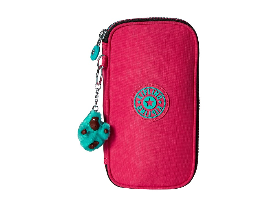 Kipling - Kay Pencil Case (Vibrant Pink) Wallet