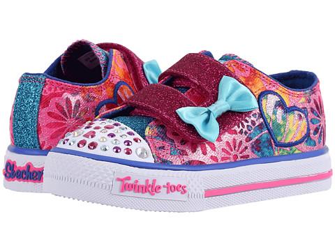 SKECHERS KIDS Twinkle Toes - Shuffles 10619N Lights (Toddler/Little Kid/Big Kid) - Hot Pink/Multi