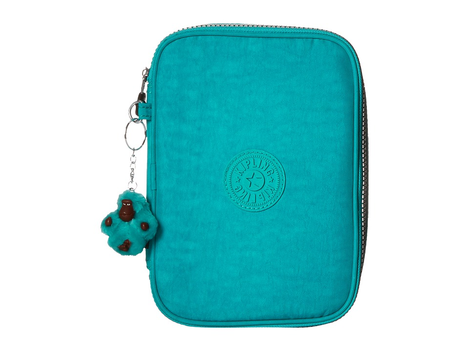 Kipling 100 Pens Case Cool Turquoise Travel Pouch