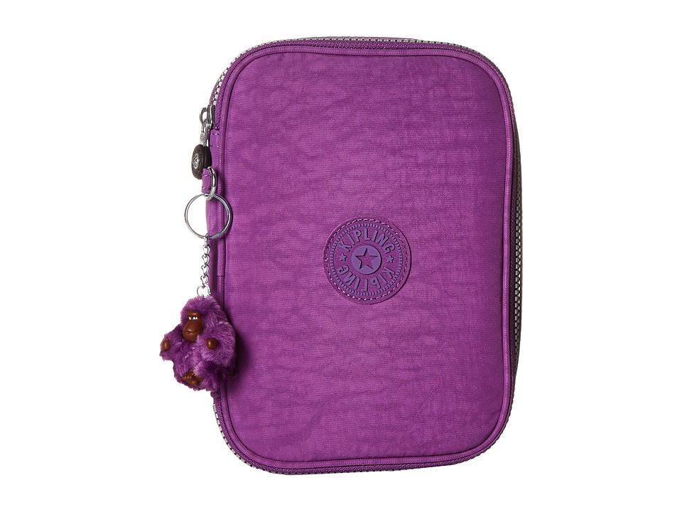 Kipling 100 Pens Case Violet Purple Travel Pouch
