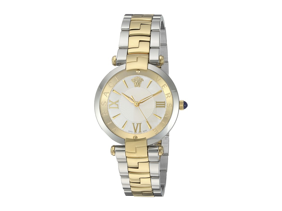 Versace Reve 3H VAI05 0016 Two Tone Stainless Steel/Blue/Yellow/Gold Watches