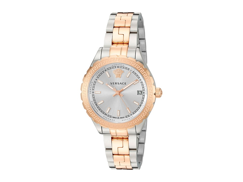 Versace Hellenium Lady V1203 0015 Two Tone Stainless Steel/Blue/Yellow/Gold Watches