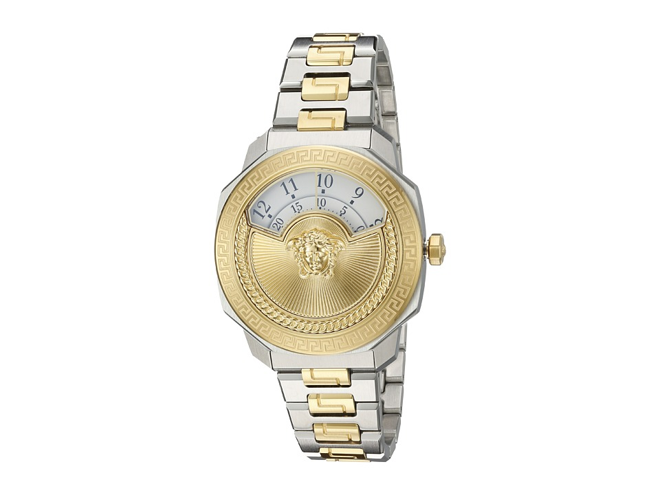 Versace Dylos Medusa VQU04 0015 Two Tone Stainless Steel/Blue/Yellow/Gold Watches