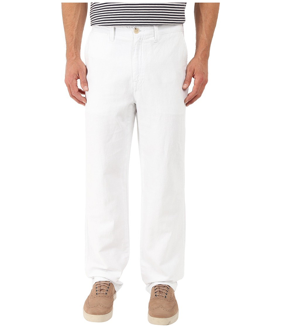 Nautica Linen Cotton Pants Bright White Mens Clothing