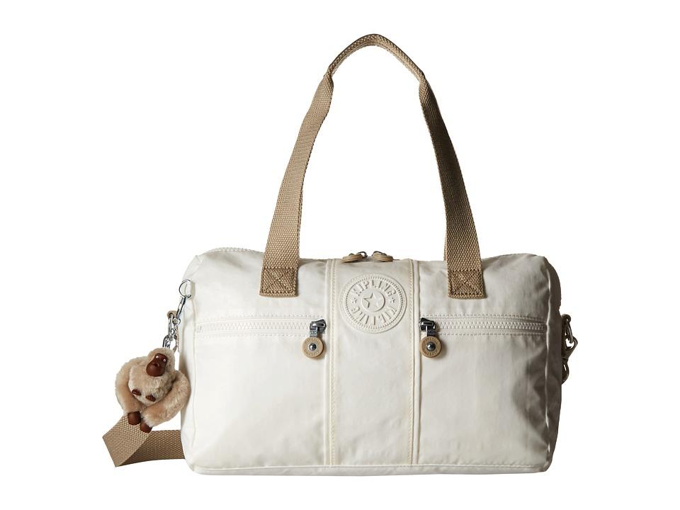 Kipling Izabela Satchel Laquer Pearl Combo Satchel Handbags