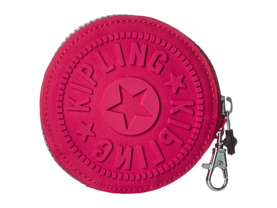 Kipling Marguerite Coin Case Vibrant Pink Wallet