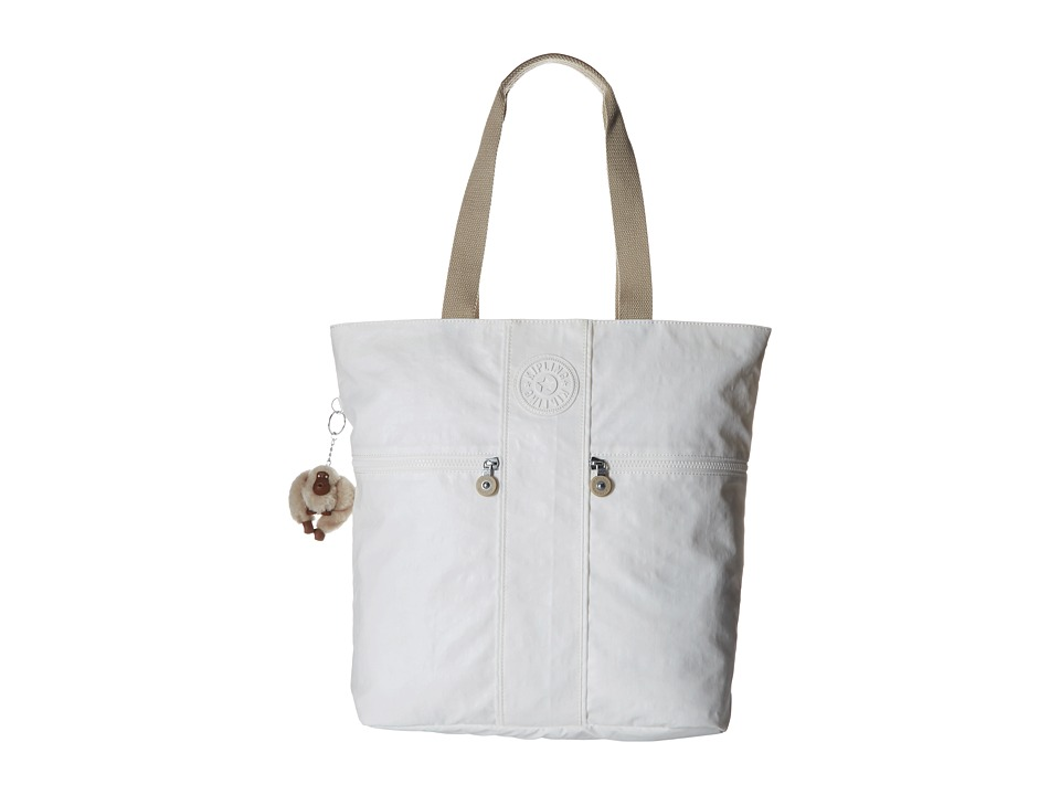 Kipling Regina Tote Laquer Pearl Combo Tote Handbags