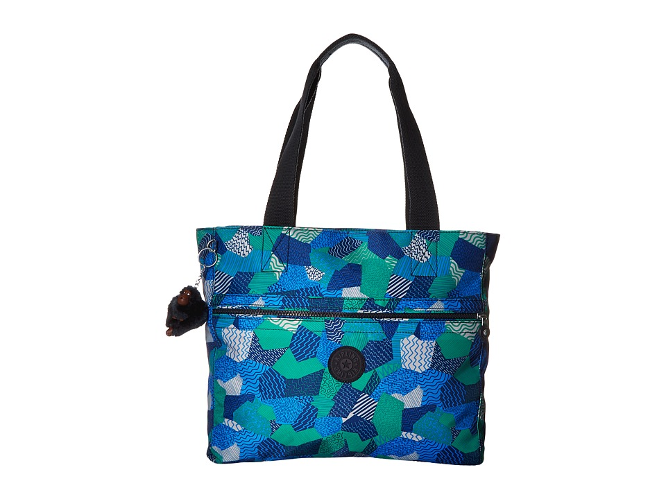 Kipling Brienne Tote Printed Enjoy The Waves Tote Handbags