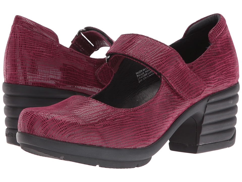 Sanita Icon Commuter (Burgundy Printed Suede) Women