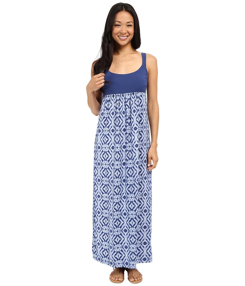Fresh Produce Shibori Malibu Maxi Dress Moonlight Blue Womens Dress